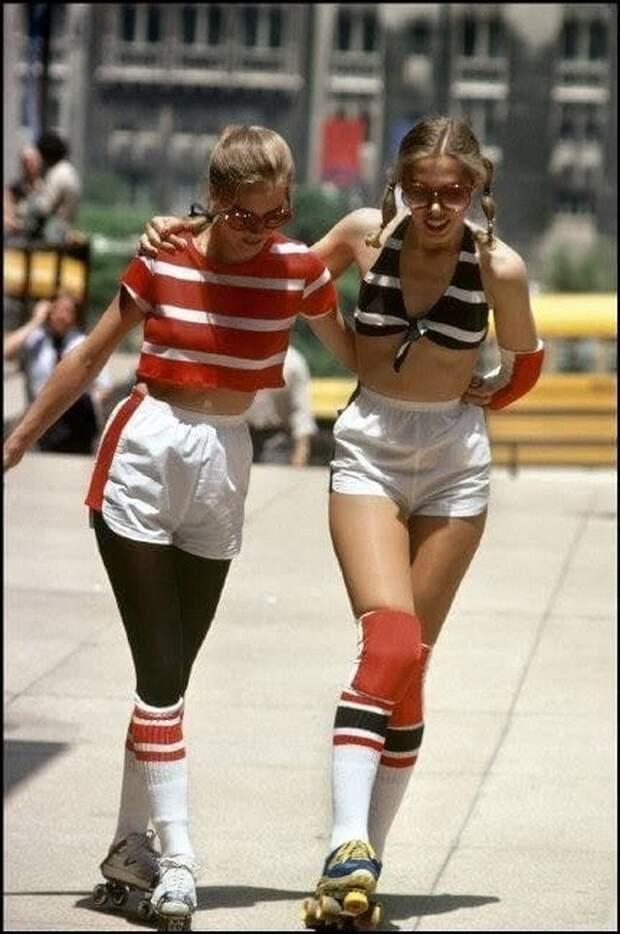Девушки на роликах, Чикаго, США, 1979 год.