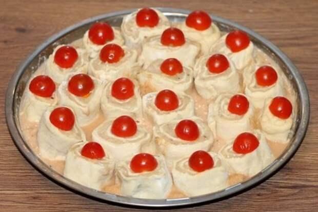 Пирог с начинкой в пряном соусе: фото шаг 12