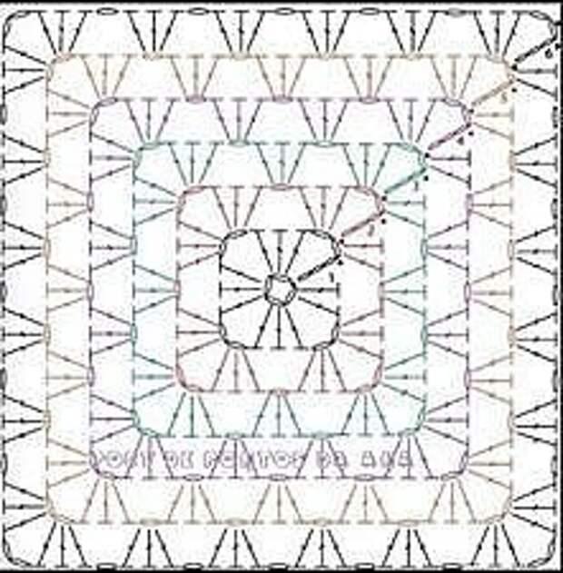 Кофточка бабушкин квадрат