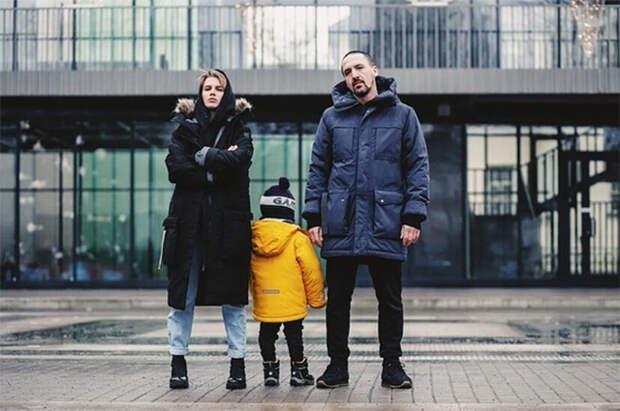 Дарья Мельникова и Артур Смольянинов с сыном