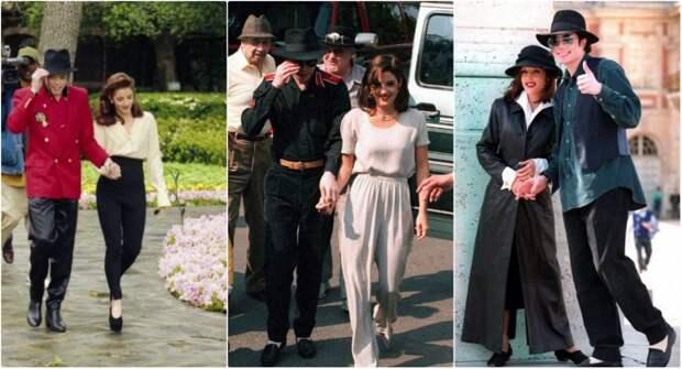 Фотографии Майкла Джексона и Лизы Мари Пресли во время их короткого брака