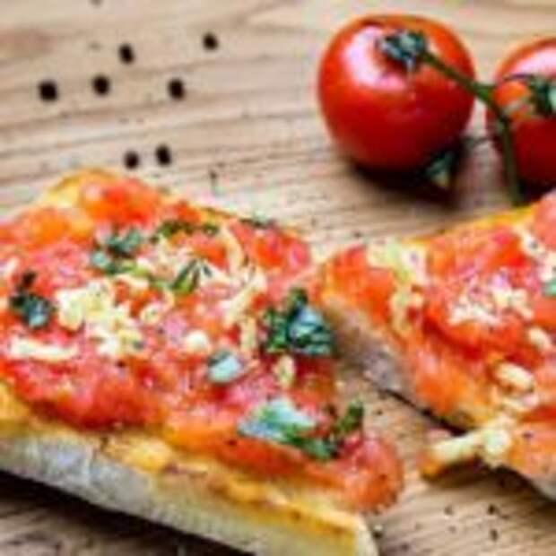 Хлеб с помидором по-каталонски! Просто и вкусно!