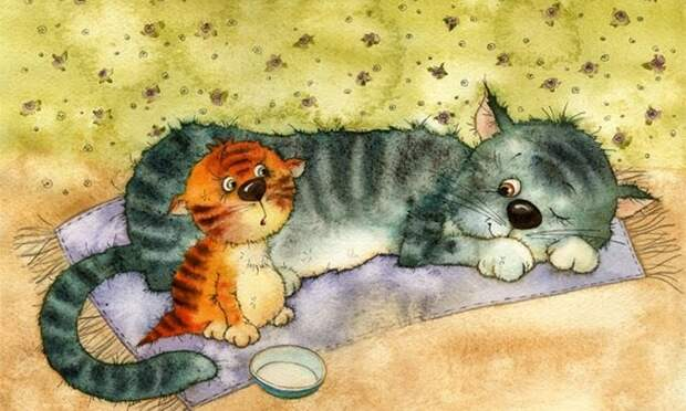 Про мурчалок и царапок. Иллюстрации Виктория Кирдий.