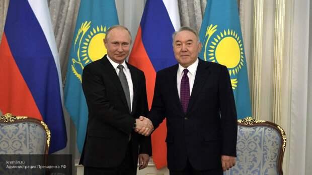 Путин поздравил экс-президента Казахстана Назарбаева с юбилеем