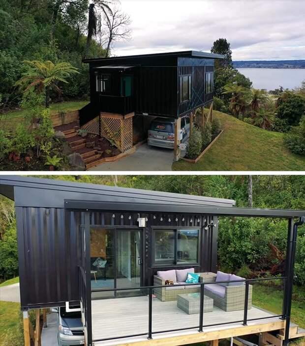 Женщина сама спроектировала чудо-домик из грузовых контейнеров