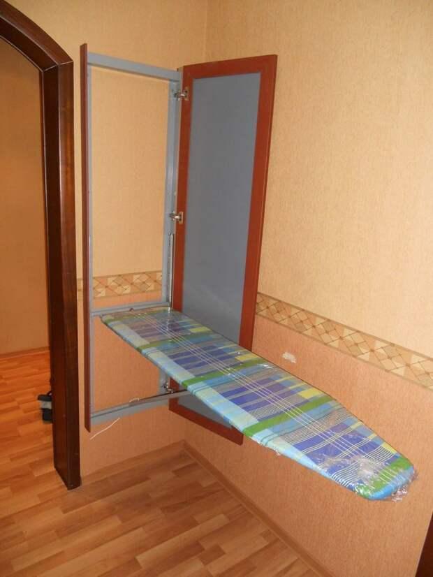 Идеи для хранения гладильной доски. Или 10 мест, где можно спрятать гладильную доску, фото № 17
