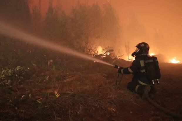 Больше 50 сотрудников МЧС и военных окружил огонь в Мордовском заповеднике