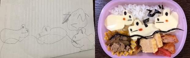Бенто по детским рисункам (подборка)