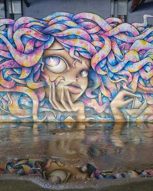 Яркие портреты от уличной художницы Вини Граффити