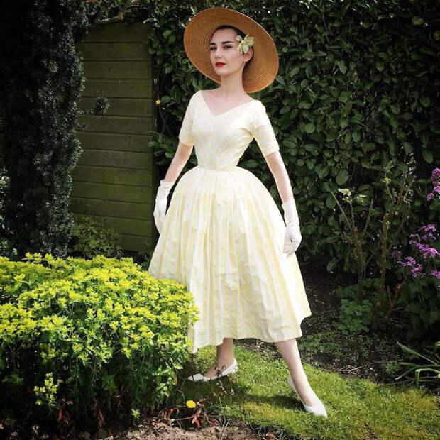 Образ Одри Хепберн в роли Джо Стоктон в фильме *Забавная мордашка*.