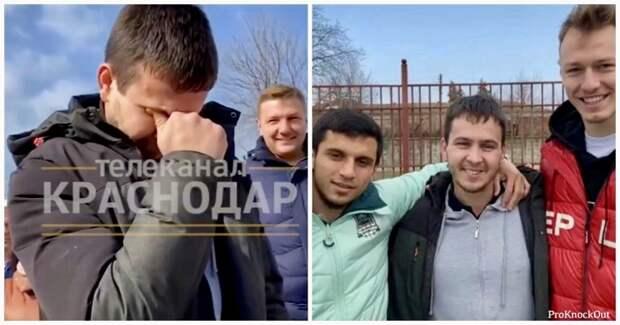 """Футболисты """"Краснодара"""" подарили машину таксисту-инвалиду, которого травили в соцсетях"""
