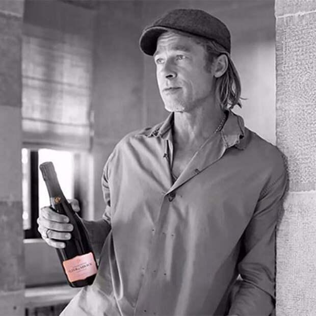 Выпьем за любовь: после начала нового романа Брэд Питт представил шампанское собственного производства