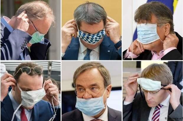 Нарочно не придумаешь, или снова маски и политики