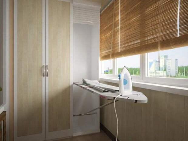 Идеи для хранения гладильной доски. Или 10 мест, где можно спрятать гладильную доску, фото № 44