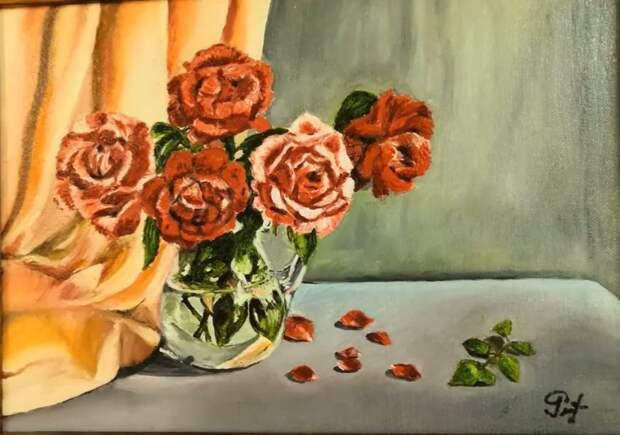 Выставка картин жительницы Левобережного проходит на Беломорской