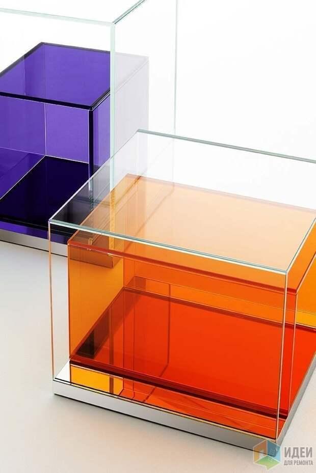 Столы и полки из стекла