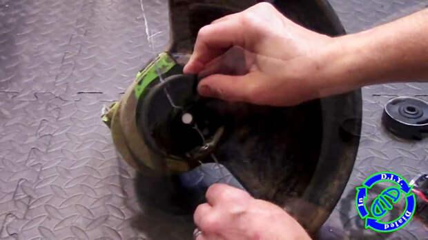 Замена лески триммера на стальной трос