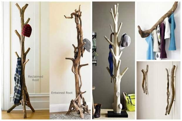 Вешалки нужны везде Фабрика идей, дом, коряги, красота, мастерство, мебель, палки, уют