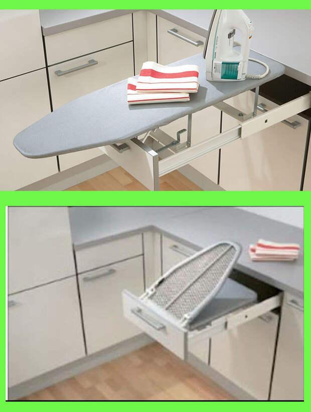 Идеи для хранения гладильной доски. Или 10 мест, где можно спрятать гладильную доску, фото № 23