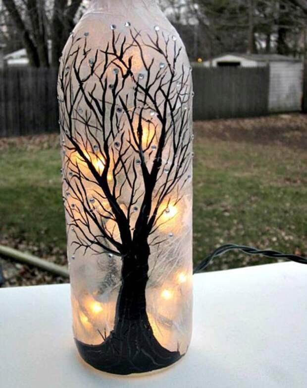 Идеи декорирования и вторичного использования стеклянных бутылок