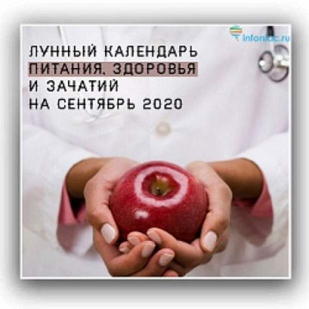 Лунный календарь здоровья, питания и зачатий на сентябрь 2020 год.