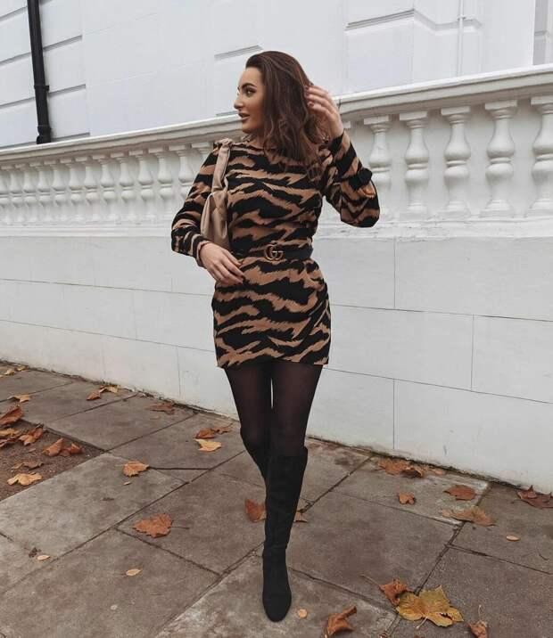Модные повседневные платья зимы 2021