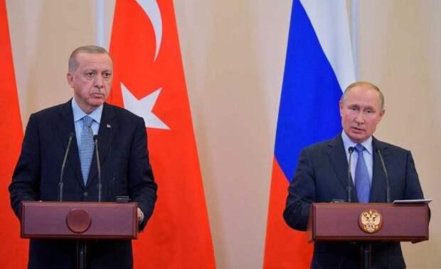 Владимир Путин и Реджеп Тайип Эрдоган. Фото:Alexei Druzhinin/Xinhua/www.globallookpress.com