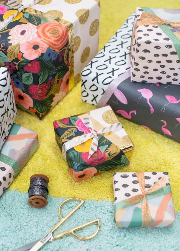 Лоскутная упаковка подарков (Diy)
