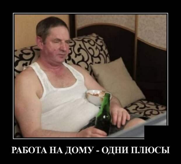 Демотиватор про работу на дому