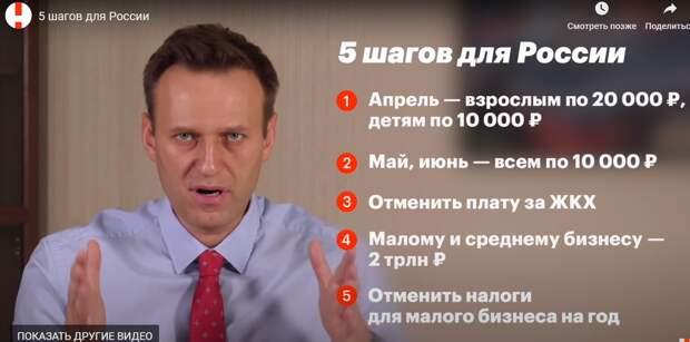 5 шагов спасения от коронавируса по Навальному - народ в истерике
