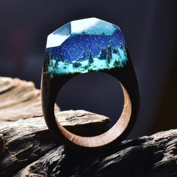 кольцо, смола