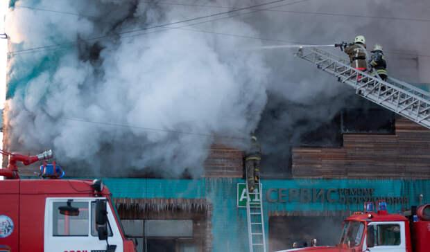 Вцентре Тюмени наГерцена сгорели постройки для цирковых пони