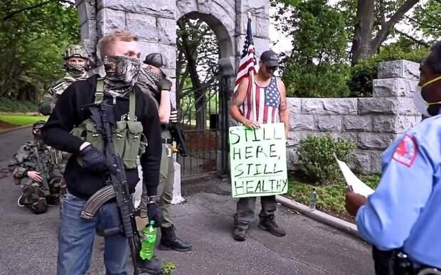 Риск кровопролития: в США фиксируется активность вооруженных отрядов боевиков