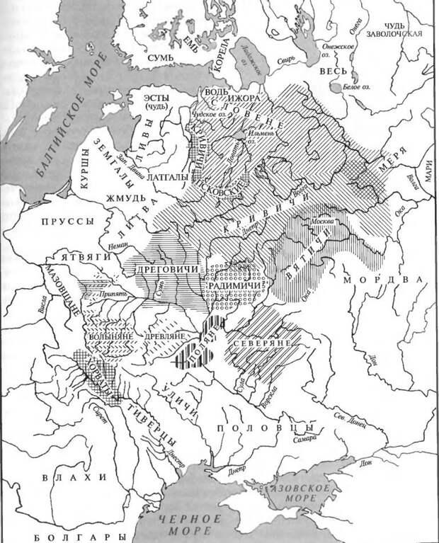 Расселение восточнославянских племен в XI—XIII вв.