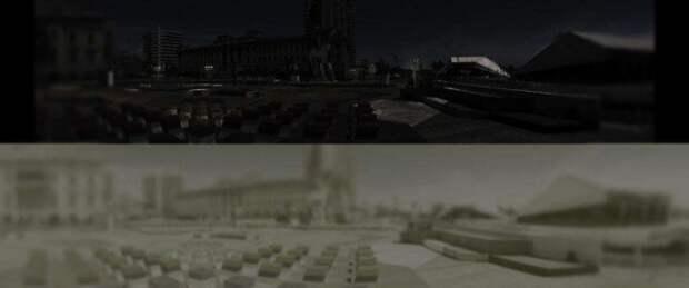 Так видит в темноте человек (снимок вверху), а так — кот (снимок внизу) интераесное, факты, фото
