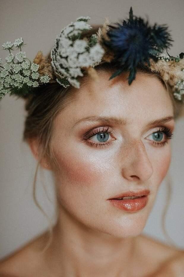Осенний свадебный макияж — главные тренды