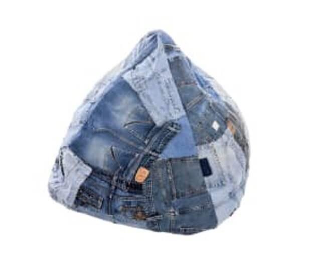 Пуф из джинсов (подборка)