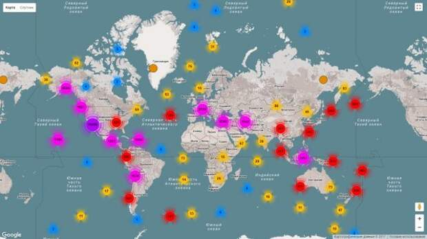 Землетрясения в мире