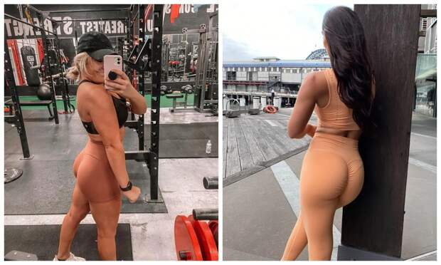 «Голый» тренд: зачем модницы выбирают нюдовые лосины итопы для тренировок
