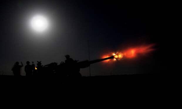 Ночной обстрел Донбасса