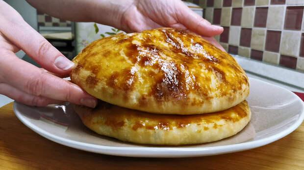 Лепешки с сыром по рецепту Хачапури. Способ без вымешивания теста руками (можно делать с разными начинками)