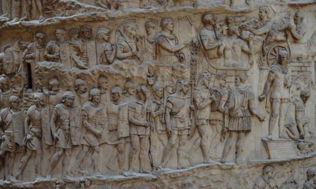 Римская армия на рельефах Колонны Траяна - Колонна Траяна   Warspot.ru