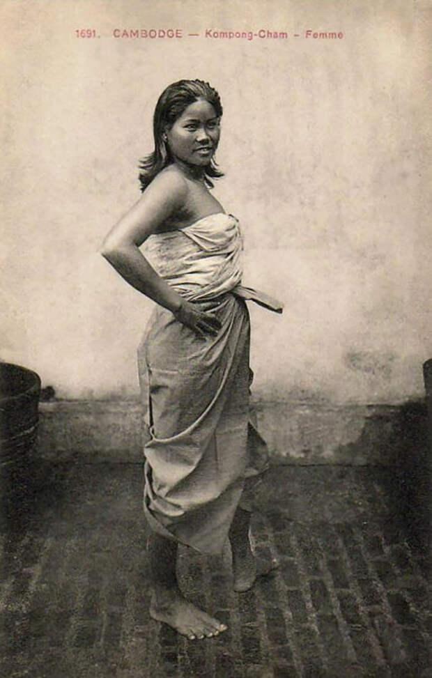 Стиль одежды камбоджийских красавиц.