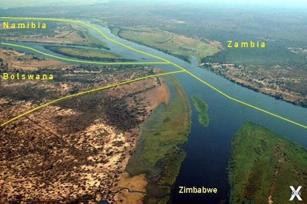 Река Замбези и границы Намибии, Замби...