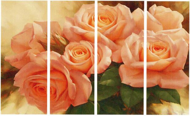 "modul'naja kartina ""Cvety"" svoimi rukami"