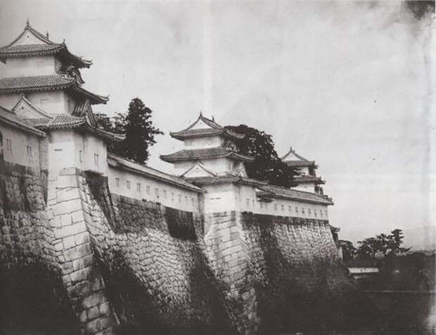 Стены замка в Осаке, 1865 год jacar.go.jp - Кровавые вехи войны Босин   Военно-исторический портал Warspot.ru