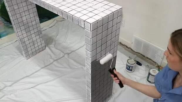 Модный стол-консоль своими руками всего из трех досок