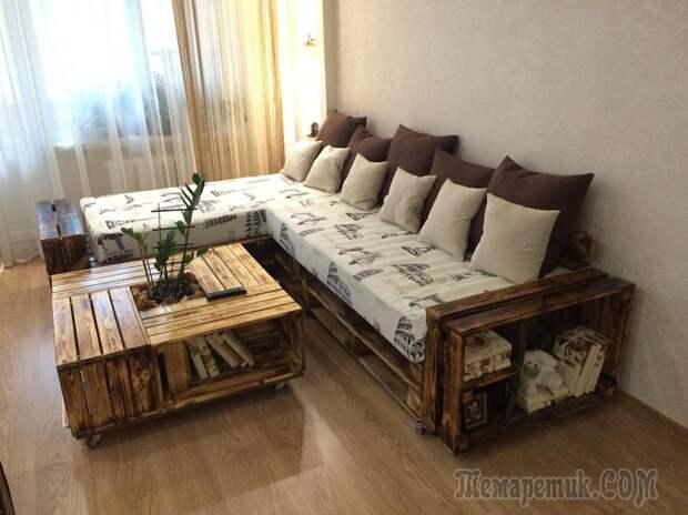 Мебель в гостиную из подручных средств