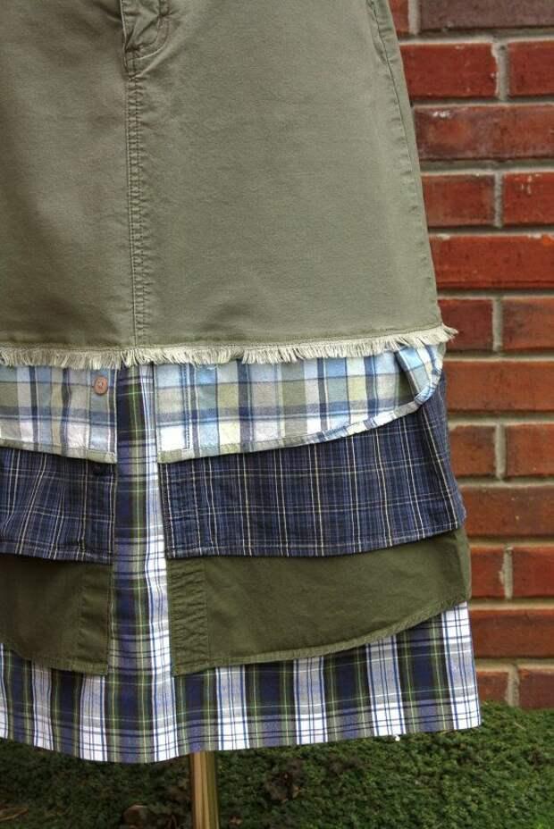 Макси юбка из рубашек