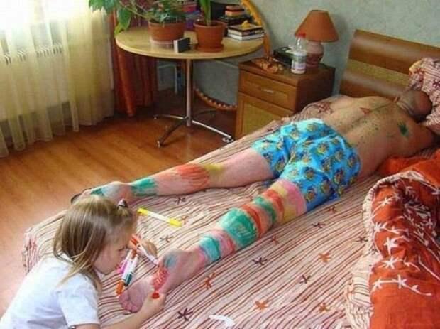 14. Дочка, нарисуй мне купола... дети, отец, позитив, юмор